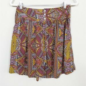 TWO by VINCE CAMUTO Multicolor Tribal Print Skirt